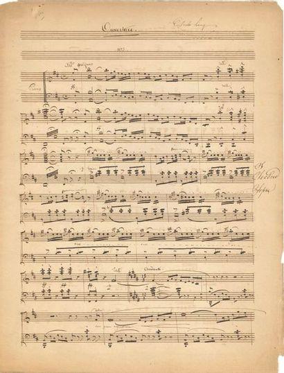 Charles LECOCQ (1832-1918). Manuscrit musical...