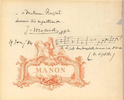Jules MASSENET. P.A.S. musicale, 19 janvier...