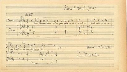 Jules MASSENET. P.A.S. musicale, Anvers 21...
