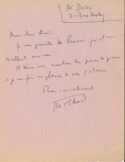 MUSIQUE. 13 lettres ou pièces de compositeurs,...