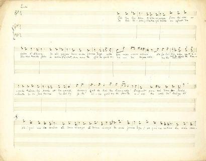 Jacques OFFENBACH (1819-1880). Manuscrit...