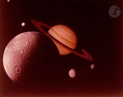 NASA Saturne vue par la sonde Voyager 1,...