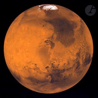 NASA Mars vue par la sonde Viking-Orbiter, 8 juin 1998. Épreuve chromogénique pigmentaire....