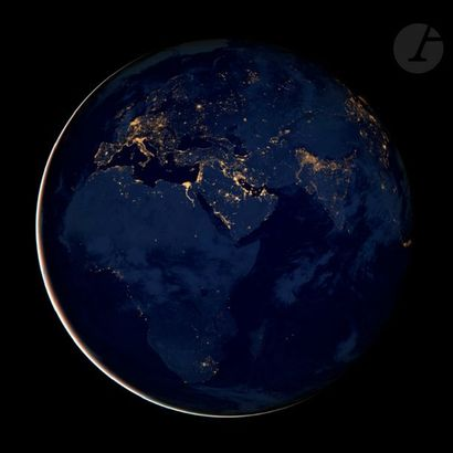 NASA Suomi NNP Satelitte, 2012. City lights of Africa, Europe and the Middle East....