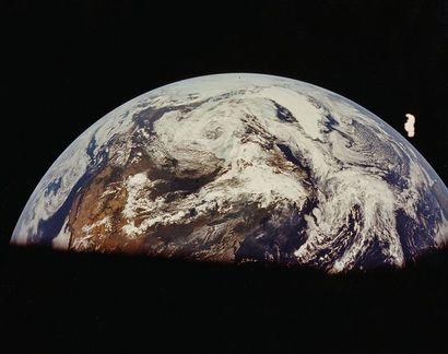 NASA Apollo 11, 16 juillet 1969. Vue de la...
