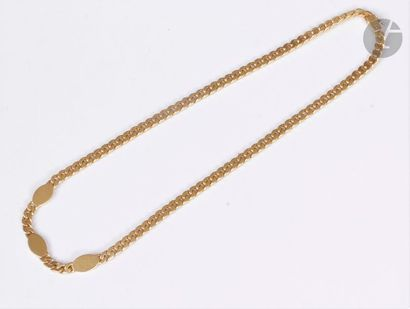 Collier en or 18K (750), maillons gourmette,...
