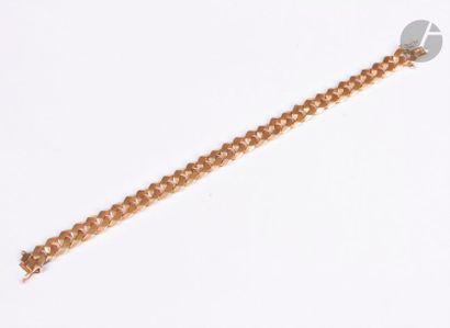 Bracelet en or 18K (750), maillons gourmette....