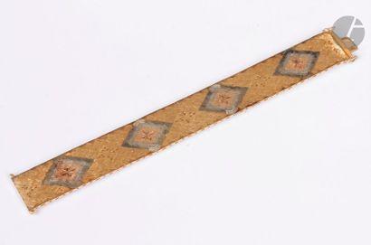 Bracelet ruban en ors de couleurs 18K (750)....