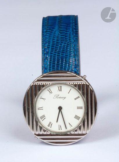 POIRAY vers 1990. N°A3086. Montre bracelet...
