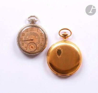 INVAR. Vers 1900 N°382436 Montre de poche...