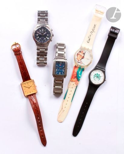 Lot de 5 montres bracelet d'homme dont 2...