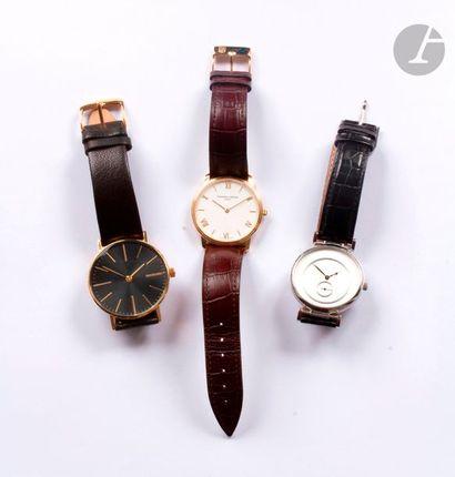 Lot composé d'un ensemble de 3 montres en...