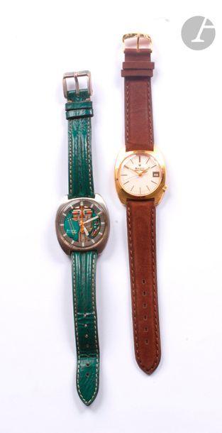 BULOVA Accutron. 2 montres bracelet d'homme...
