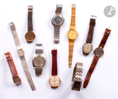 Lot de 10 montres bracelet d'homme et femme...
