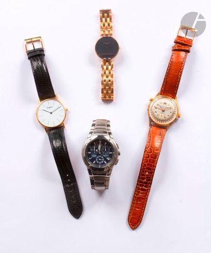 Lot composé d'un ensemble de quatre montres...
