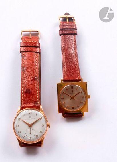 Lot de 2 montres bracelet d'homme en or 18K...