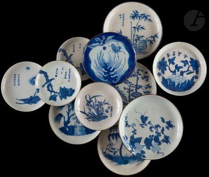 Chine Onze coupes en porcelaine à décor en...