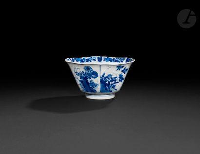 Chine Bol de forme hexagonale en porcelaine...