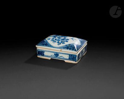 Chine Boîte rectangulaire couverte en porcelaine...