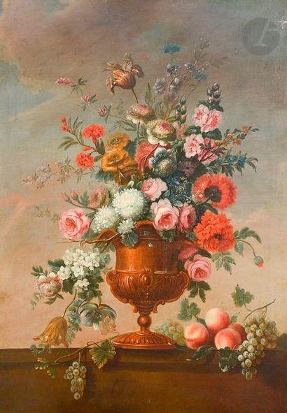 école HOLLANDAISE vers 1780 Bouquet de fleurs...