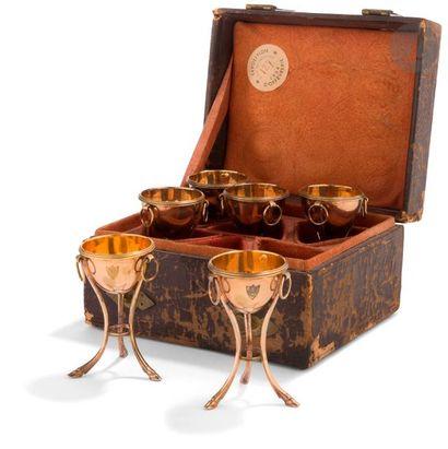 PARIS 1789 - 1792 Suite de six coquetiers...