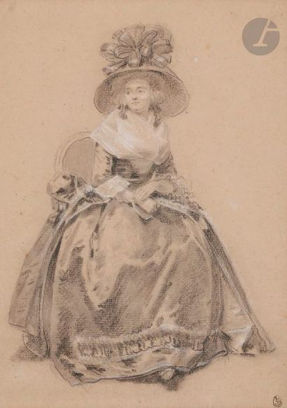 Attribué à Etienne LE GUAY (1762 - 1846)...