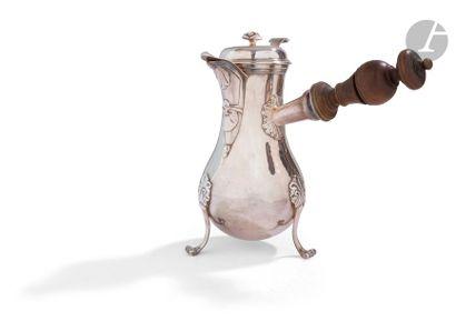 TOULOUSE 1781 - 1789 Verseuse en argent uni...