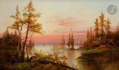 Yuliy Yulevich KLEVER (1850-1924) Vue sur...