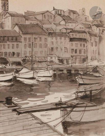 Serge KISLAKOFF (1897-1980) Cannes, le vieux...