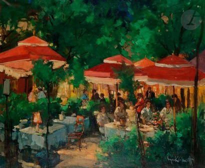 Serge KISLAKOFF (1897-1980) Montmartre sous...