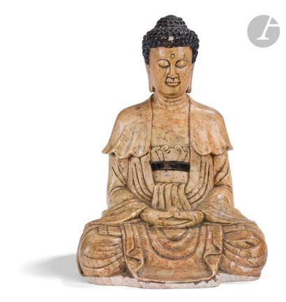 CHINE - Début XXe siècle Statuette de bouddha...