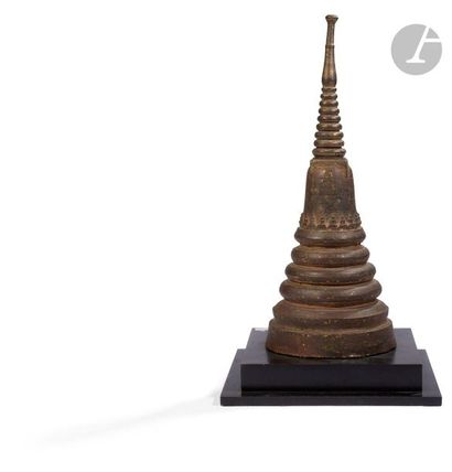 THAÏLANDE - XVIIIe / XIXe siècle Grande stupa...
