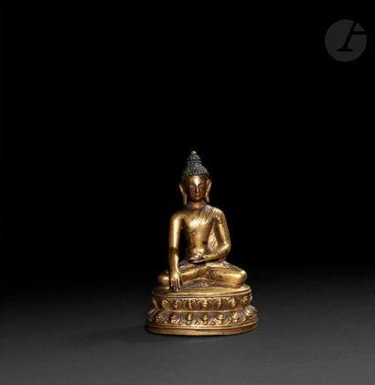 TIBET - XVIIe siècle Statuette du bouddha...
