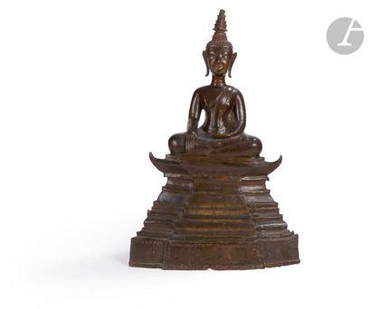 LAOS - XVIIIe siècle Statuette de bouddha...