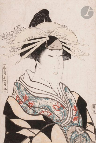 Toyokuni I (1769 -1825) Oban tate-e, oiran...