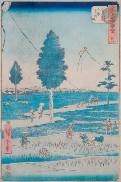 Utagawa Hiroshige (1797 - 1858) Oban tate-e...