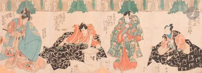 Utagawa Kuniyoshi (1798 - 1861) Quadriptyque...