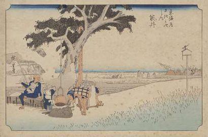 Ensemble d'estampes Des acteurs de kabuki,...