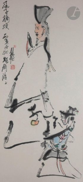 Zhang GUIMING (1939 - 2014) « Fête nocturne...