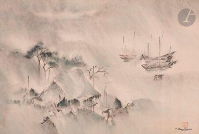 Tran Van Tho (1917 - ?) Paysans rentrant...