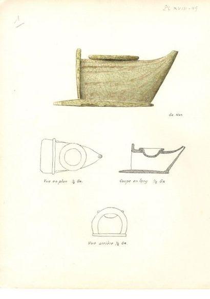 VIETNAM et CHINE - XIIe / XIIIe siècle Ensemble comprenant : - Coupe sur pied en...