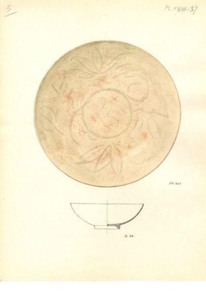 VIETNAM, Tanhoa - XIIe / XIIIe siècle Ensemble comprenant : - Bol polylobé en grès...