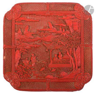 CHINE - Époque QIANLONG (1736 - 1795) Boîte...