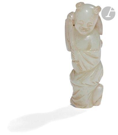 CHINE - Vers 1900 Petite statuette en néphrite...