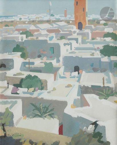Raymond CRETOT-DUVAL (1895-1986) Ville au...