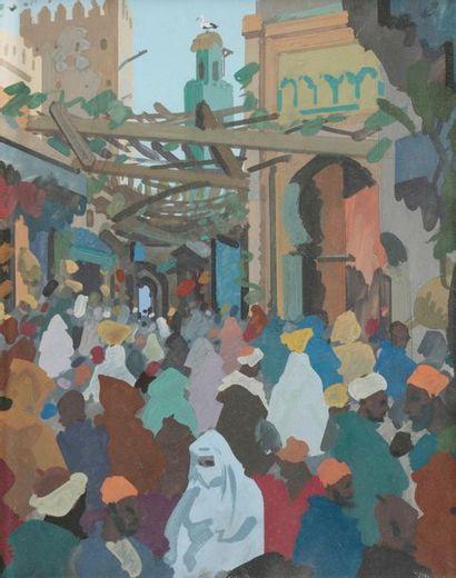 Raymond CRETOT-DUVAL (1895-1986) Souk au...