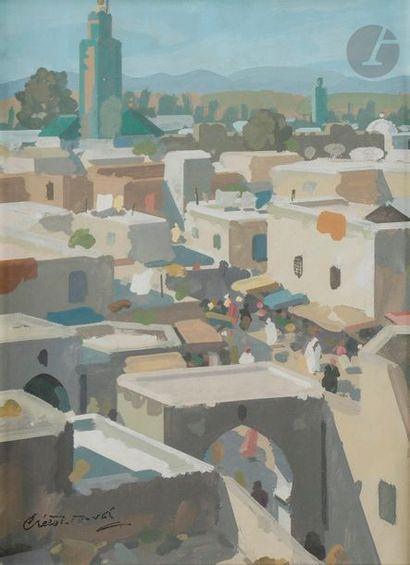 Raymond CRETOT-DUVAL (1895-1986) Rue au Maroc,...