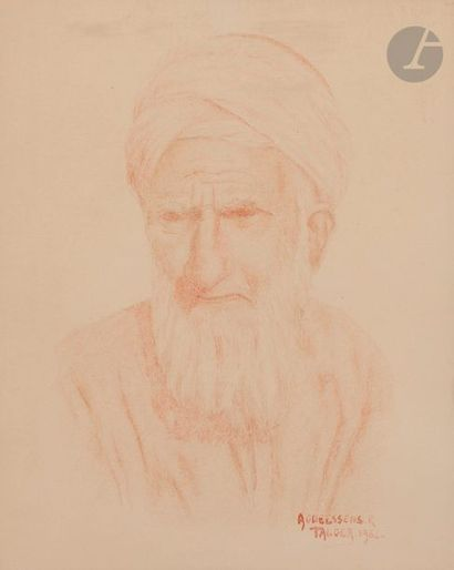 R. AGNEESSENS (XXe siècle) Portraits de Marocains,...