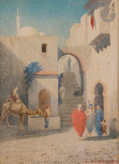 Auguste BOUCHET (1831-1889) Ville orientale...