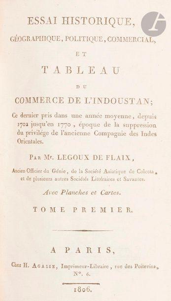 LEGOUX DE FLAIX, Essai historique, géographique,...